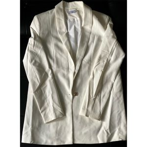 Off-White Long-Sleeves One-Button Blazer Jacket